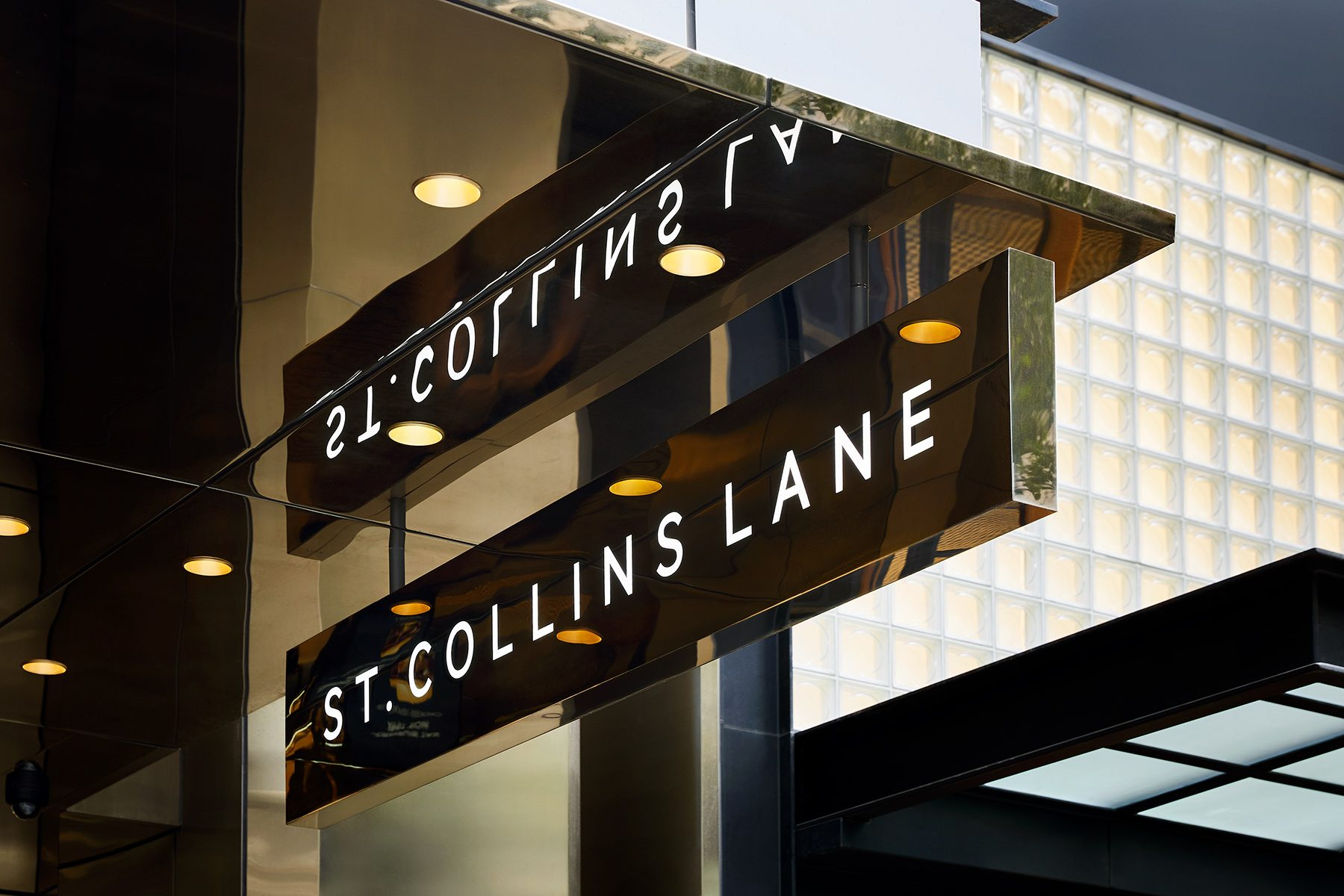 Collaboration with Right Angle Studio – St. Collins Lane – signage and wayfinding